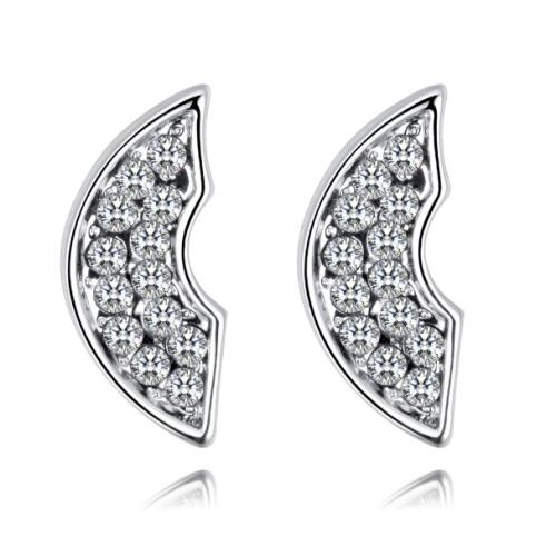 Semicircular earrings