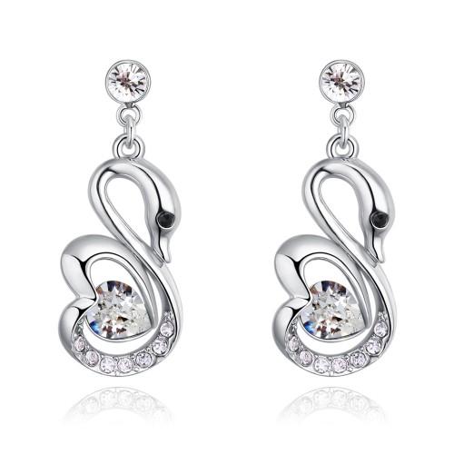 swan earring 27098