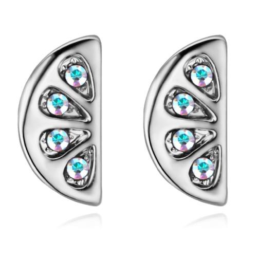 Semicircular earrings 28493