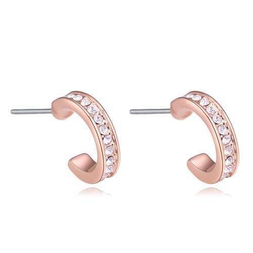 Semicircle earrings 27322