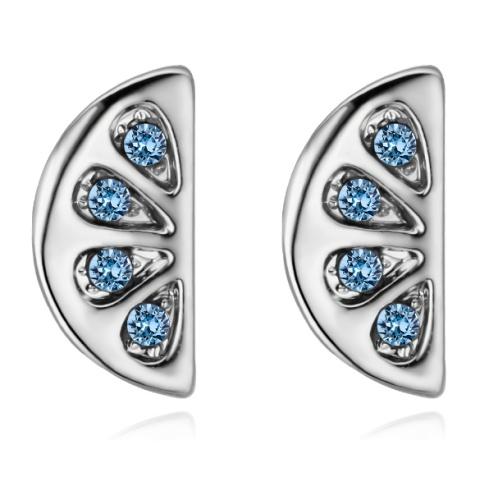 Semicircular earrings 28492