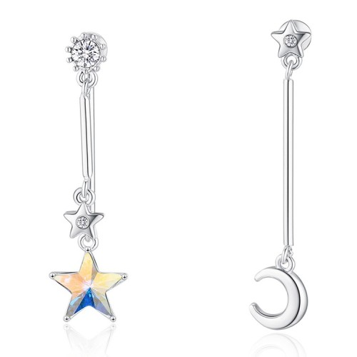 star moon earring 30522