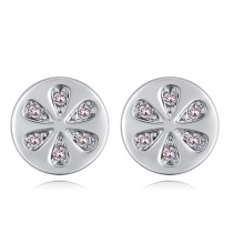 Round earrings 28052