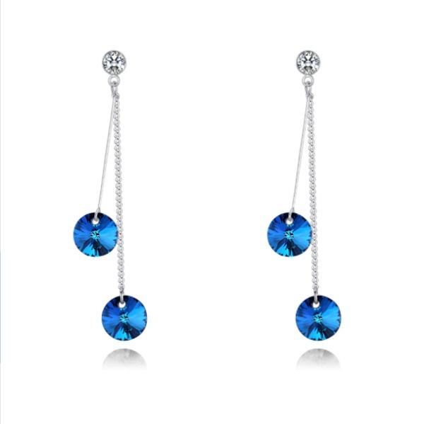 Two-tone earrings 28350