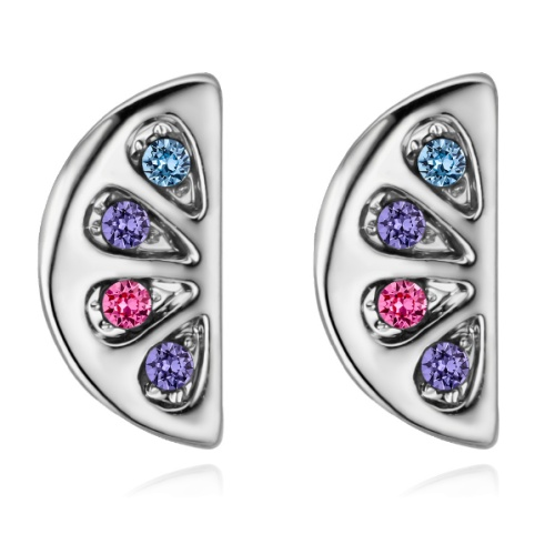 Semicircular earrings 28494