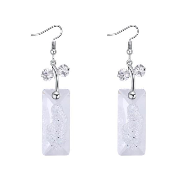 Rectangular earrings 27163