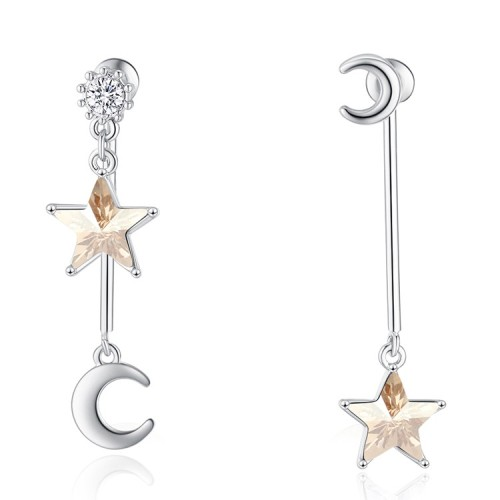 star moon earring 30517