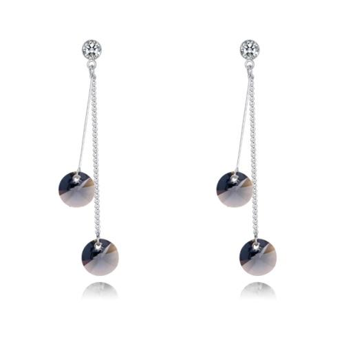 Two-tone earrings 28346