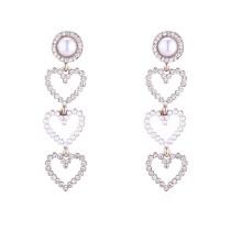 heart long earring 30695