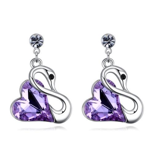 swan earring 26122