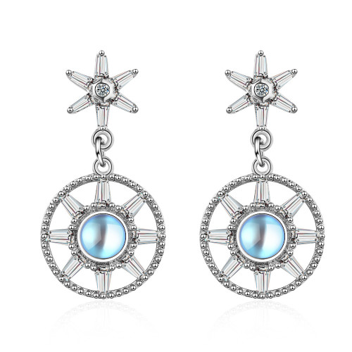 Zircon Earrings Women's Korean-Style Short Ear Pendant ins Earrings ED824