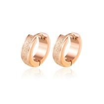 2020 New Japanese and Korean Stainless Steel Scrub Ear Clip Retro Simple Fashion Ear Stud Temperament Female Earrings Gb585