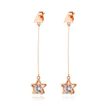 Ornament Star Ear Pendant Women's Cool Temperament Stainless Steel Five-Pointed Star All-match Earrings Gb583