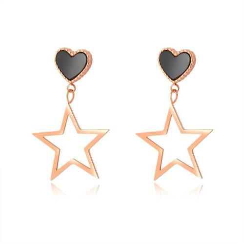 Vintage Sweet Girls Lovely Ear Stud Geometric Hollow-out Star Five-Pointed Star Earrings All-match Lovely Ear Stud Earring Gb474