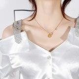 Korea Delicate Daisy Diamond Set Pendant Female Clavicle Chain Non-Mainstream Design Leaf Necklace Accessories Gb1648
