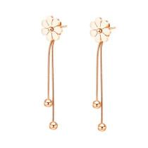 Earrings South Korea Mori Girl Line Flower Tassel Ear Stud Ear Pendant Women's All-match Long Ear Stud Popular Ornament Gb569