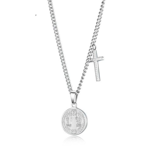 2020 Hot New Religious Faith Virgin Cross Pendant Classic Cool Stainless Steel Necklaces Gb1632