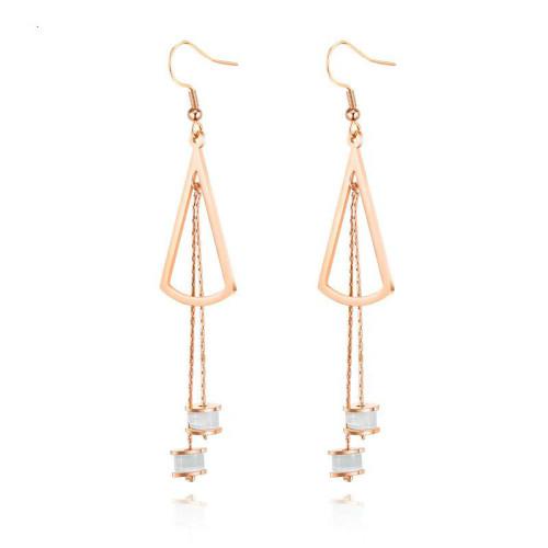 \Women's Tassel Long Earrings Korean-Style Simple and All-match Ear Stud Drop Earrings Hot Selling Wholesale Gb574