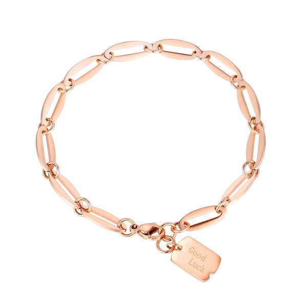Summer Bracelet Jewelry Wholesale Korean Fashion Titanium Steel Rose Gold Bracelet Female God Lucy Bracelet Gb1067