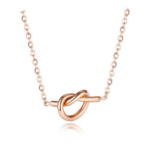 Factory Direct New Stainless Steel Knot Rose Gold Plated Necklace Girlfriends Personalized Necklace Women Gb1651