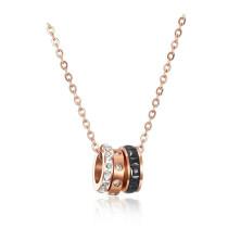 Rose Gold Plated Chain Titanium Steel Women's Elegant Necklace Simple Student Accessories Pendant Necklaces Gb1462