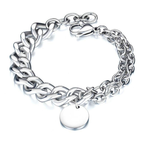 Fashion New Rock Hip Hop Stylish Tide Man Bracelet Stainless Steel Jewelry Gift Titanium Steel Men's Bracelet Gb1054