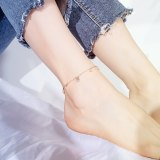 Simple Lucky Cat Ankle Cool Student Fashion  Foot Jewelry Ornament Titanium Steel Women Girl Foot Chain Anklets Gb099