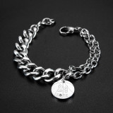 New European  Fashion Guy's Creative Jewelry Cool No. 24 Kobe Popular Stainless Steel Men Bracelet Gifts Gb1061
