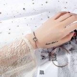 Hot Selling Simple Love Heart Knot Bracelet Bangle Open Bracelet Hipster Bracelet Women Students Ornament Gift Gb967