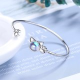 Korean-Style Sweet Kitten Bracelet Cute Cat Claw Adjustable Artificial Moonstone Bracelet Zxb177
