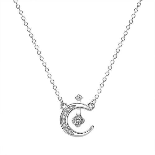 925 Sterling Silver 2020 New Zircon Xingyue Necklace Korean Popular Silver Wholesale Mla1922