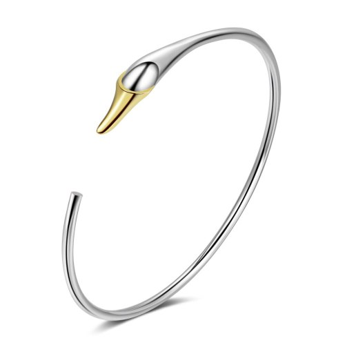Swan Bangle Ins Non-Mainstream Design Girls Korean Version of Sweet Opening Bracelet Love Bracelet Zxb175