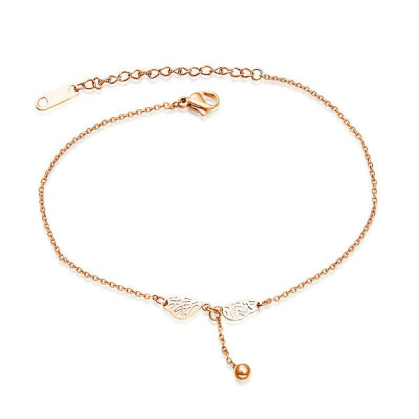 Simple Titanium Ornament Korean Style Hot Selling  Rose Gold Plated Stainless Steel Anklets Women's Foot Jewelry Gift Gb080