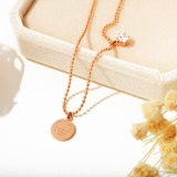 Summer Hot Selling Foot Jewelry Wholesale Titanium Steel Plated Rose Gold Anklet Round Bead Chain Women Anklet Gb063