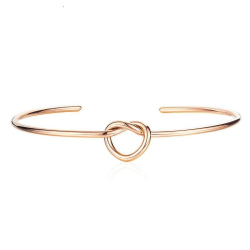Hot Selling Simple Love Heart Knot Bracelet Bangle Open Bracelet Hipster Bracelet Women Students Ornament Gift Gb967