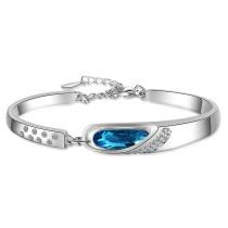 Bracelet Women Ins Non-Mainstream Design Angel Tears Blue Artificial Crystal Bracelet Superior Bracelet Zxb181