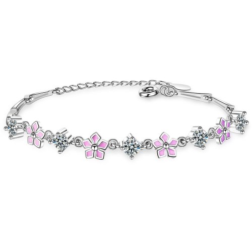 Cherry Blossoms Bracelet Female Ins Students Simple Hand Jewelry Korean Style Fashion Flower Bracelet Zxb171