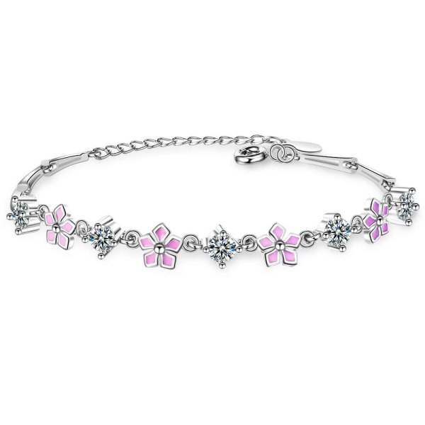 Cherry Blossoms Bracelet Female Ins Students Simple Hand Jewelry Korean Style Fashion Flower Bracelet Zxb171