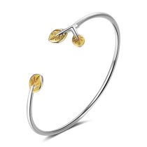 Bracelet Bracelet Female Korean Hipster Diamond Leaves Adjustable Literature Budding Leaves Bangle Bracelet Zxb172