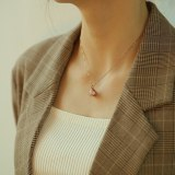 Korean Style Elegant All-match Shell Pearl Necklace  Simple Fan-Shaped  Pendant Clavicle Chain Women's Necklace Gift Gb003