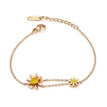 Hot Selling Personality Sunflower Daisy Bracelet Trend Fashion Ornament Women's Bracelet Gift Wholesale Gb1064