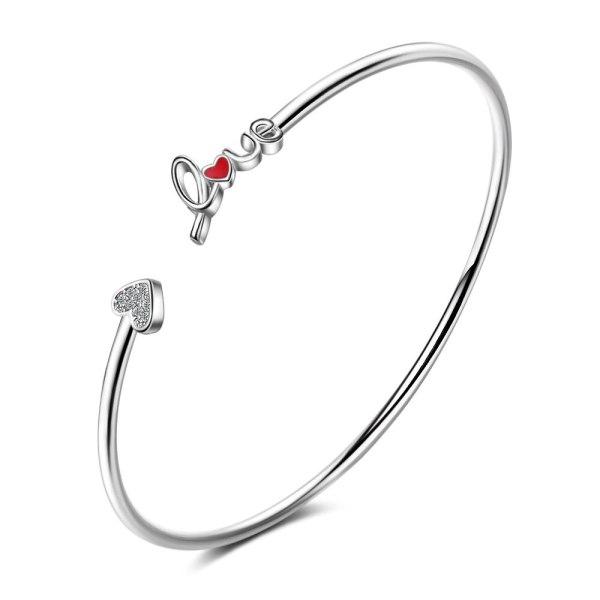 Bracelet Women  Simple Red Lovely Bracelet Temperament Heart-Shaped Bracelet Jewelry Bracelets for Women Zxb176