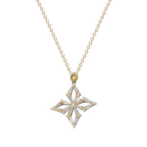 925 Sterling Silver 2020 New Zircon Necklace Korean Popular Silver 925 Jewelry Mla1981