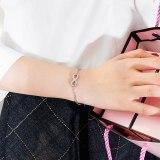 South Korea Simple Fashion Endless 8-Character Hand Jewelry Titanium Steel Rose Gold Bracelet Female Bangle Gb1033
