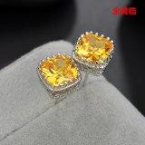 Zircon Earrings Exquisite Simple Korean Style High-End Ear Stud Earrings for Women Qx1240