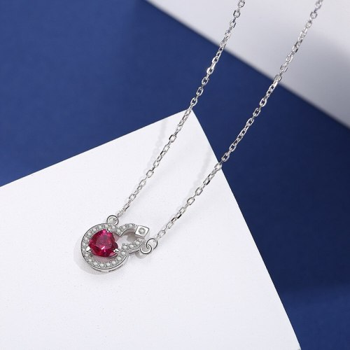 S925 Sterling Silver 2020 New Style Lovely Zircon Necklace Popular Small Jewelry Mla119