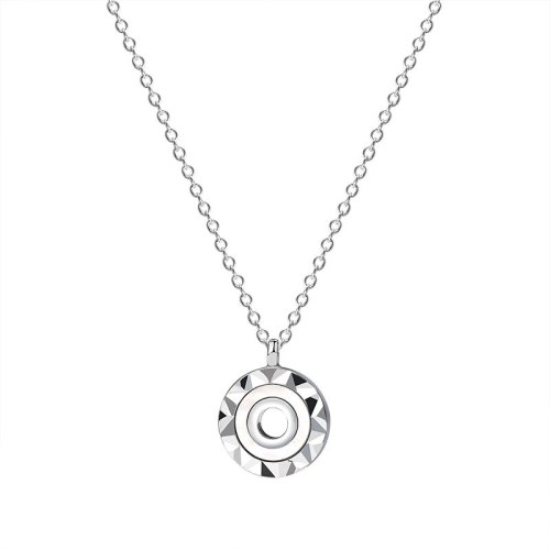 925 Sterling Silver New round Diamond Necklace Female Korean Fashion Amazon jewelry A1934
