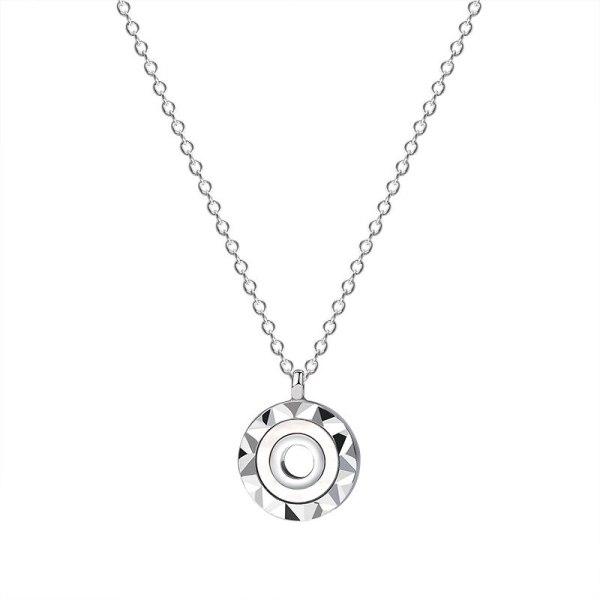 925 Sterling Silver New round Diamond Necklace Female Korean Fashion Amazon jewelry A1934