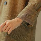 Hot Sell Korean Style Summer Women's Titanium Steel Bracelet Cool All-match Key Heart Ornament Women Bracelet Gb1071
