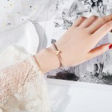 Fashion Bracelets Bangles Letter V Bracelet Titanium Steel Plated Rose Gold Women Bracelet Jewelry Gift Gb963